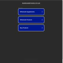bargainfoods.co.uk preview