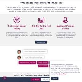 freedomhealthinsurance.co.uk preview