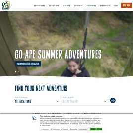 goape.co.uk preview