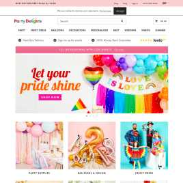partydelights.co.uk preview