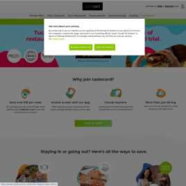 tastecard.co.uk preview