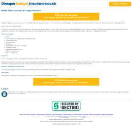 cheapergadgetinsurance.co.uk preview
