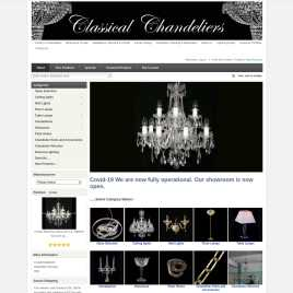 classicalchandeliers.co.uk preview