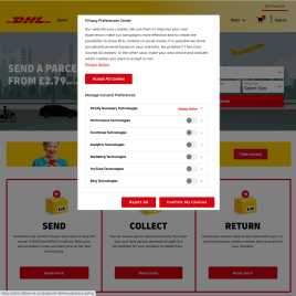 send.dhlparcel.co.uk preview